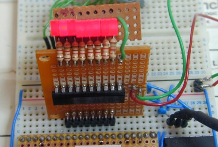 Row of LEDs for the H3668 development board