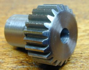 Small Steel pinion, 22 teeth, 0.5module, gear cutting