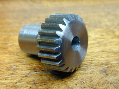 A steel pinion