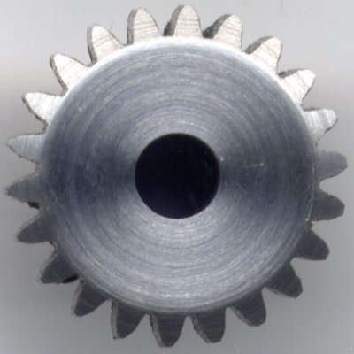 pinion gear end view